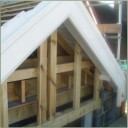 Traditional hand cut roof with front-moulded gable detail.  Twickenham, SW London